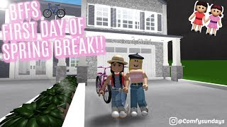 BFF'S FIRST DAY OF SPRING BREAK II Roblox Bloxburg