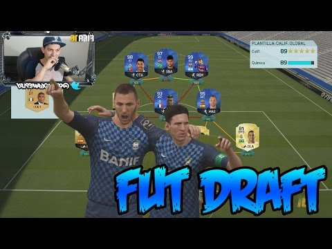 FIFA 16 - FUT DRAFT - Tengo el Mejor ataque de la BBVA - MESSI TOTY de otro planeta!!!