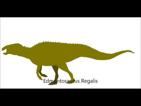 PPBA Edmontosaurus vs Allosaurus remake