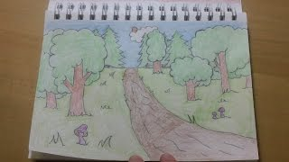 191 - How to Draw! Cool Easy Cartoon Forest Background