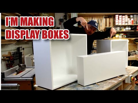 Making MDF Display Boxes & Display Plinth / Pedestal (Timelapse) [127]