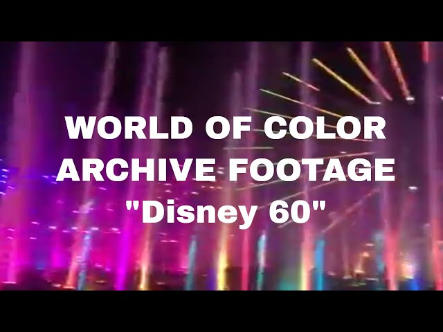 \'World of Color - Celebrate\' Full Show - DISNEY ARCHIVE
