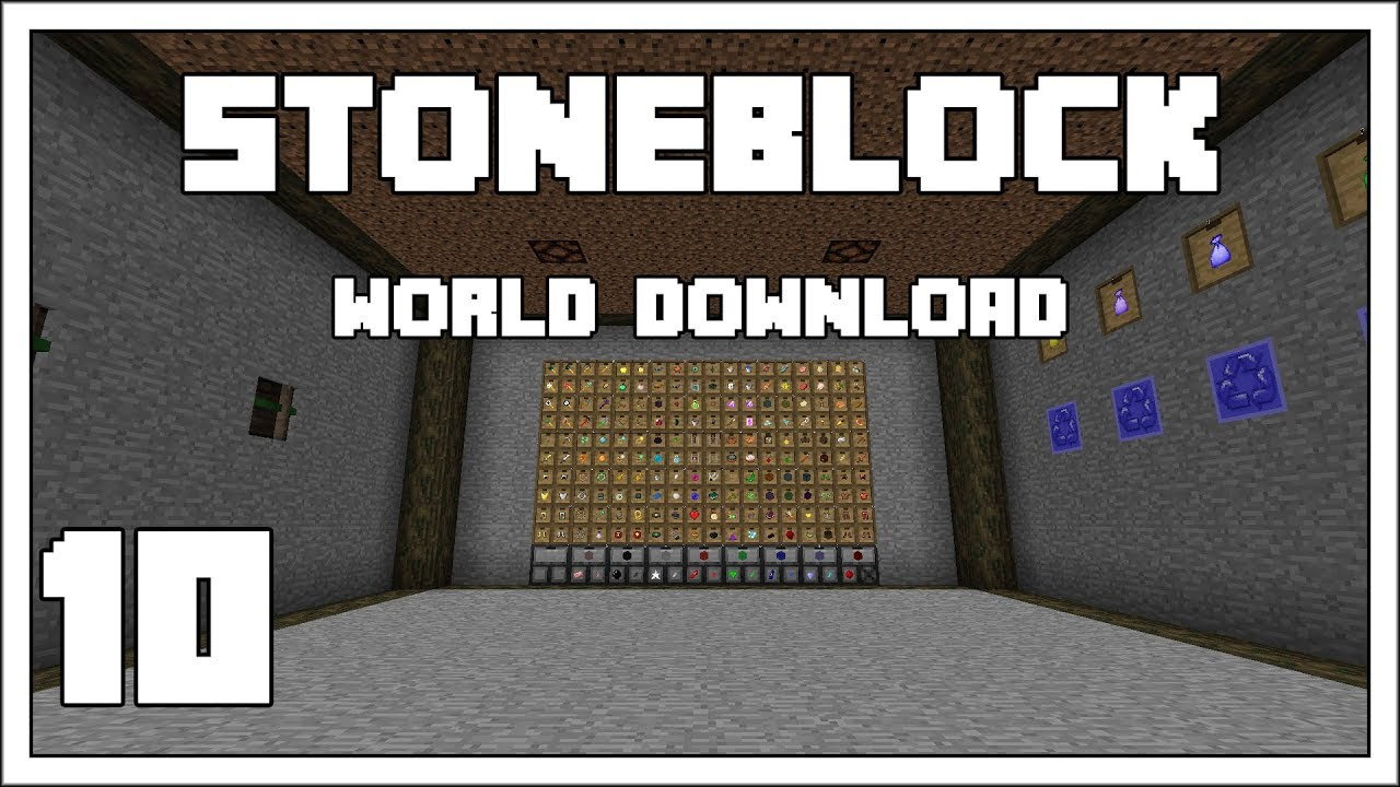 Download : Stoneblock EP10 Loot Bags Opened Modded Minecraft