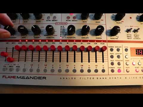 "Flame MÄANDER Synthesizer simple arpeggio like p.floyds""on the run"" (beta test)"
