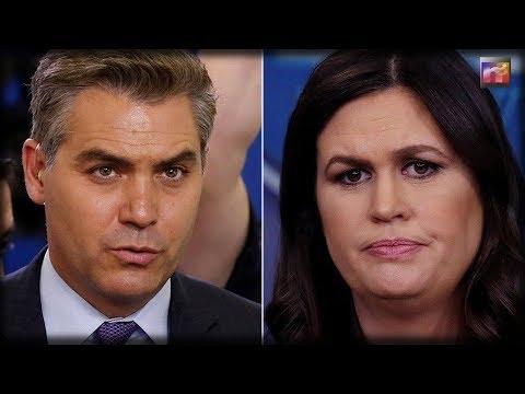 BOOM! Sarah Sanders Swats Away Race-Baiting Question From CNN's Jim Acosta
