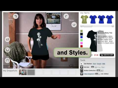 Zugara's Augmented Reality & Motion Capture Shopping App