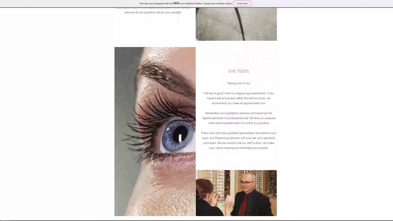 Opticians Website