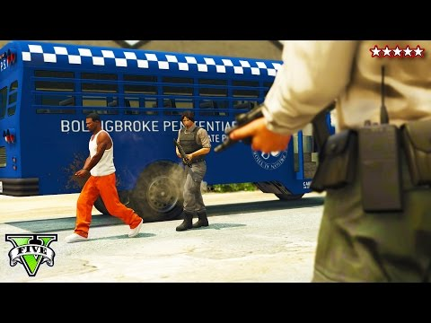 GTA 5 EPIC PRISON BREAK HEIST!! -  GTA 5 Online NEW Heists - (GTA 5 Funny Moments)