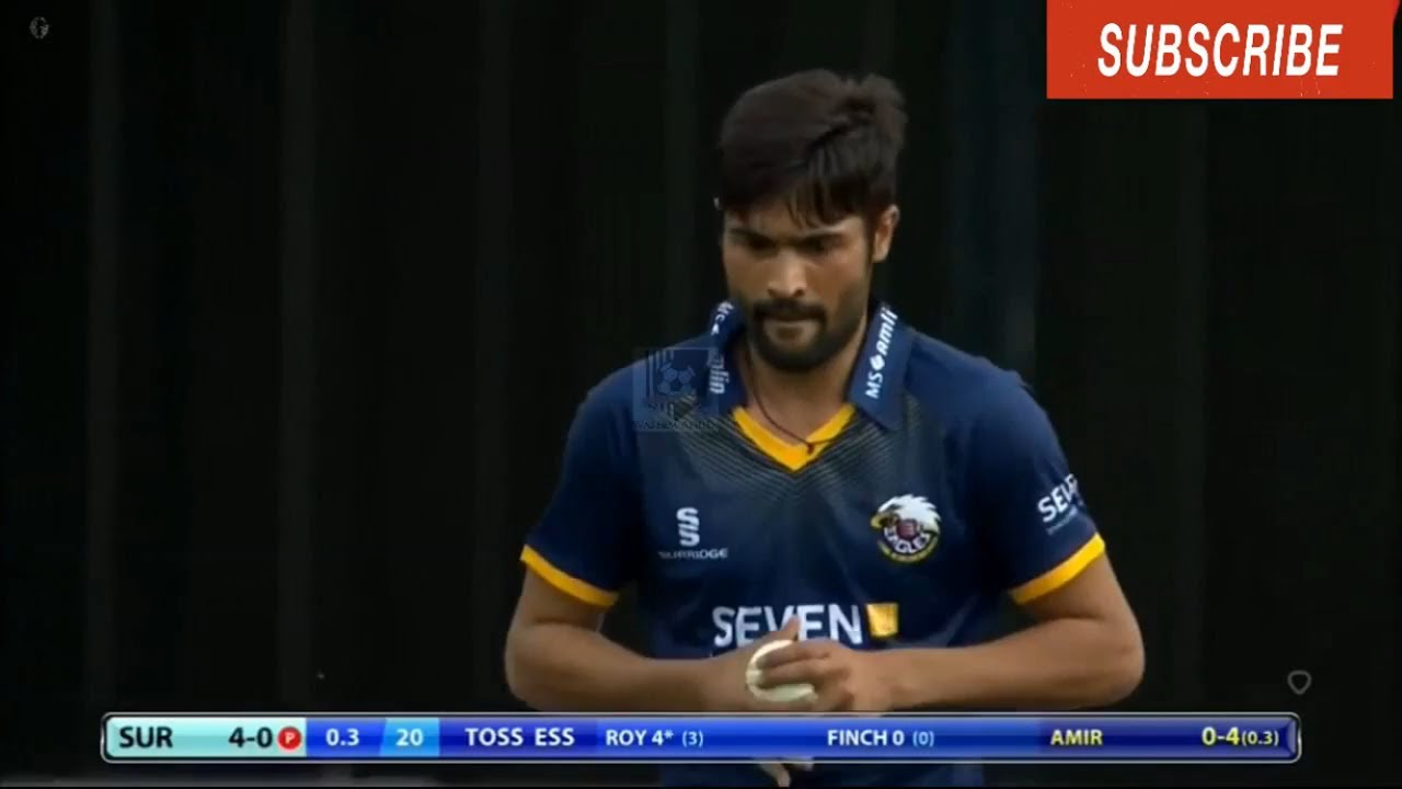Download Muhammad Amir's first wicket in first match of Natwest t20 blast and wonderful catch and fielding