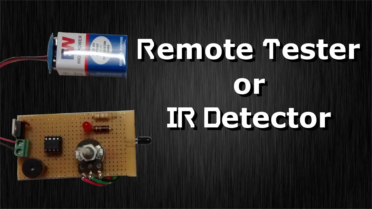 How to build a ir remote tester or ir detector using lm358 only how to build a ir remote tester or ir detector using lm358 only circuit diagram testing pooptronica Gallery
