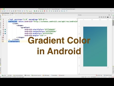Gradient color in android - Ajit Singh