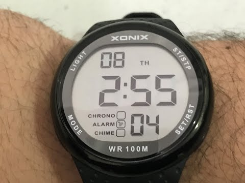 Xonix digital watch unboxing and review