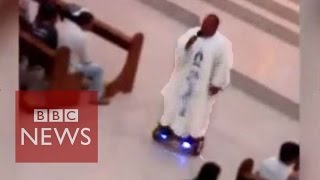 Hoverboard priest condemned by church - BBC News