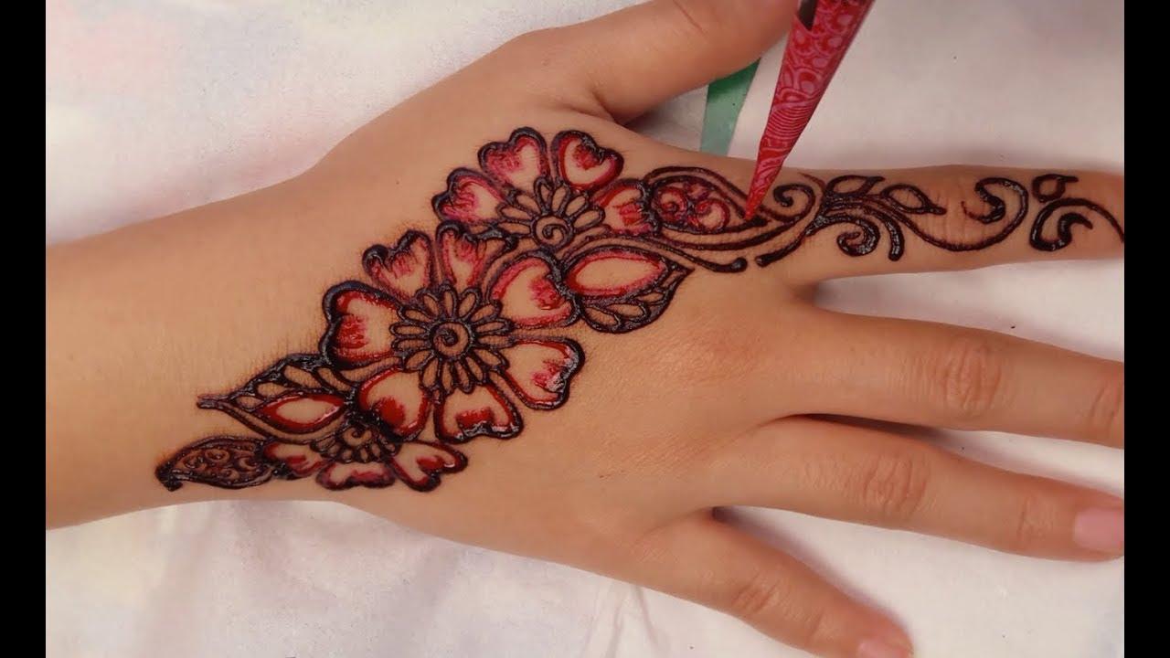 Design Henna Tangan Simple