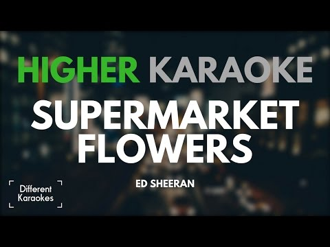 Ed Sheeran - Supermarket Flowers (HIGHER Key Karaoke)