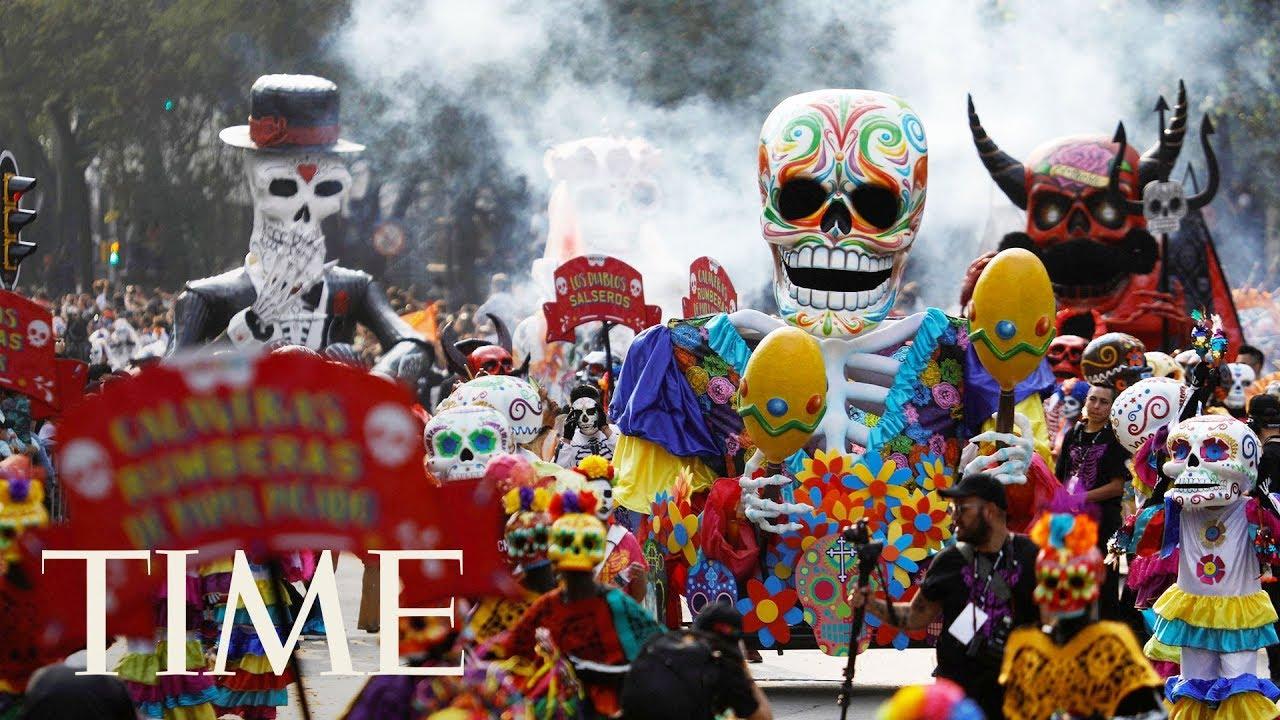 Live Footage As Mexico City Celebrates Día De Los Muertos Day Of
