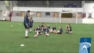Ποδόσφαιρο Πάκμαν παιχνίδι διασκέδασης για ντρίπλα και πάσα