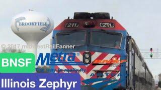 BNSF Racetrack Rush Hour (Metra, Amtrak, BNSF) at Congress Park