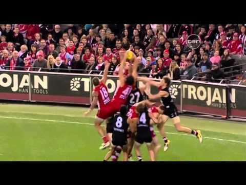 Shane Mumford - 9 man pack mark - 2011 AFL 2nd Elimination Final - Sydney Swans
