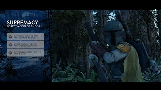 Star Wars Battlefront Deluxe Edition: Hero Gameplay Boba Fett Supremacy Forest Moon of Endor