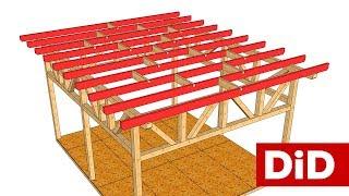 753. Stoisko Domidrewno: wykonanie konstrukcji dachu