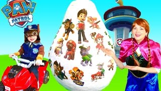 paw patrol toys nickelodeon giant egg surprise opening nick jr with chase frozen anna