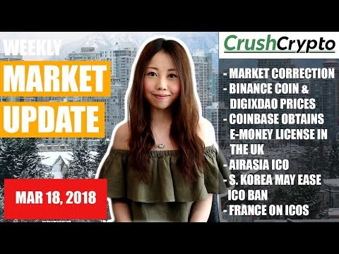 Weekly Update: BNB & DGX Rally / Coinbase / AirAsia ICO / S. Korea May Ease ICO Ban / France