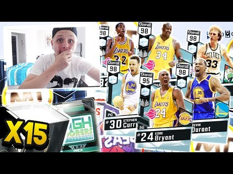 THESE PACKS WILL GO DOWN IN NBA 2K HISTORY!!! OVER 15 DIAMOND PULLS!! NBA 2K17 MYTEAM