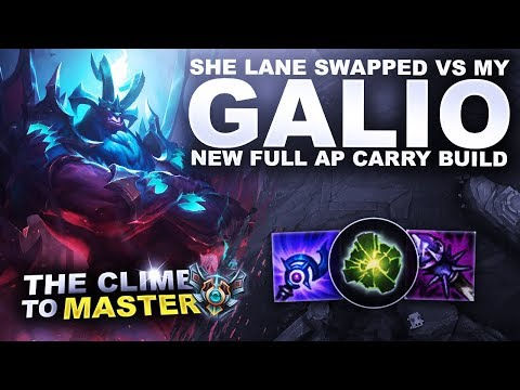 SHE LANE SWAPPED FROM MY GALIO! FULL AP CARRY BUILD - Climb To Master | League Of Legends