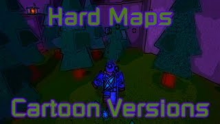 Roblox Flood Escape 2 | All Hard Maps (Cartoon/Comic Drawing Versions)