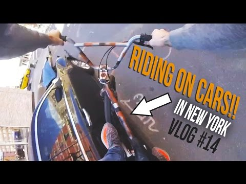 RIDING ON CARS IN NEW YORK!? VLOG #14