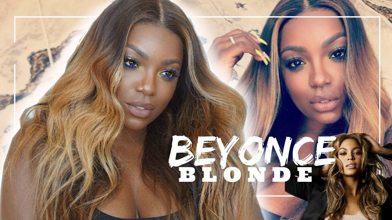 Beyonce Blonde Hair For Brown Girls Diy Youtube