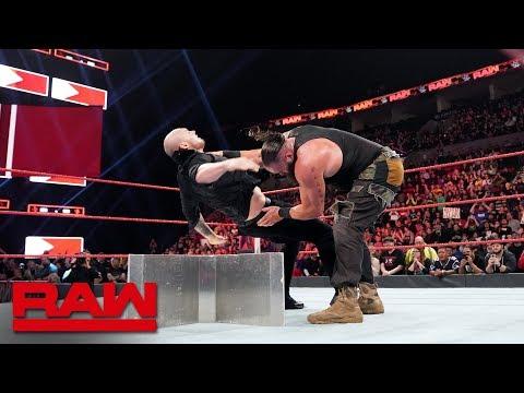 Braun Strowman & Kurt Angle vs. Baron Corbin & Drew McIntyre: Raw, Feb. 4, 2019