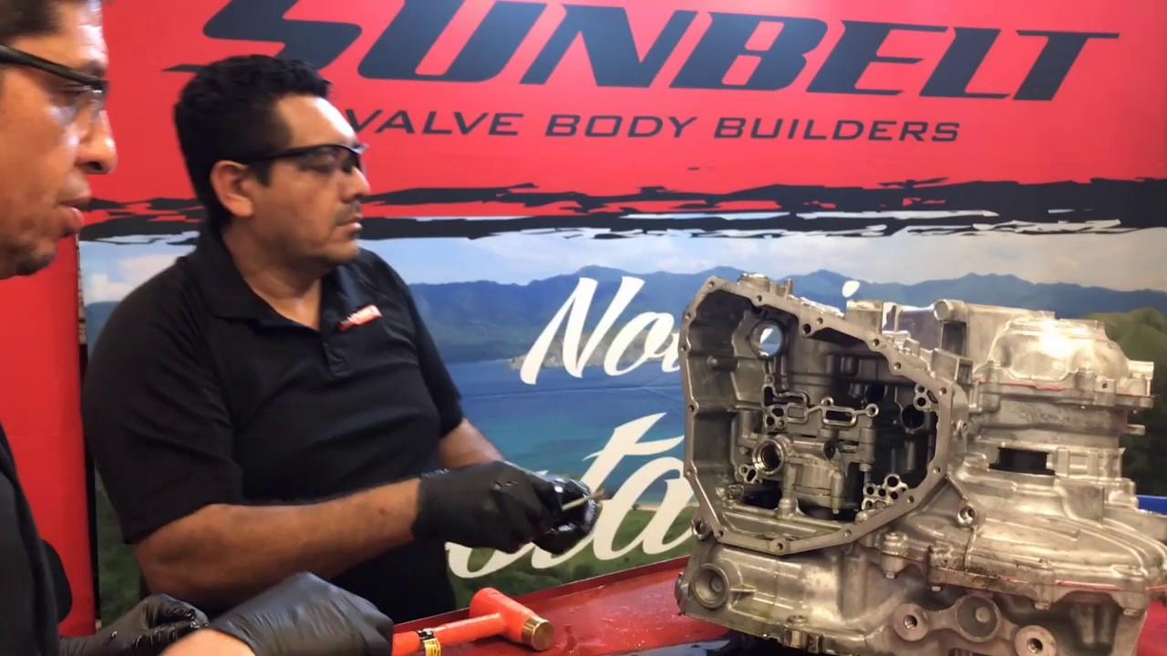 2013 Nissan Sentra CVT disassembling a RE0F11A (JF015E) transmission by  Sunbelt Valve Body Builders