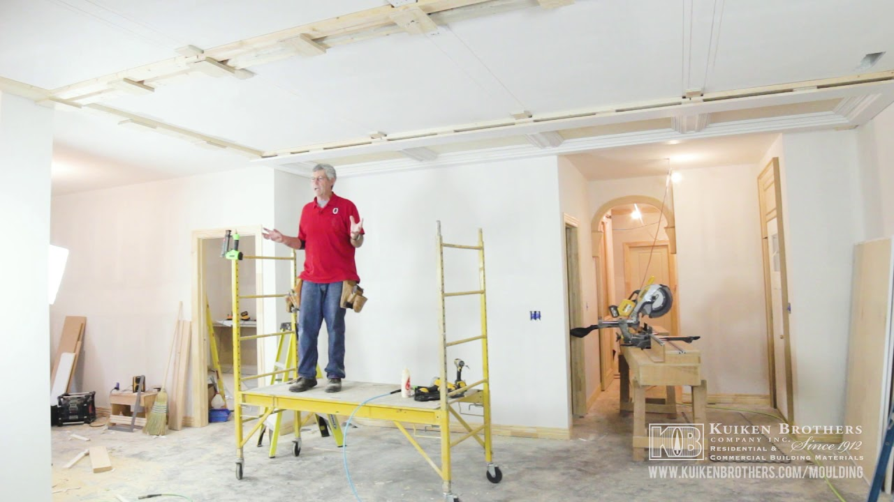 Part 1 - How to Build a Panel/ Beam Ceiling with Stock Moulding from ...