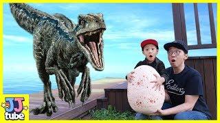 랩터알을 가져가면 안돼! 티라노사우르스 인도랩터 쥬라기 월드 공룡 상황극 모음 Jurassic world Dinosaur Top Episodes [제이제이 튜브-JJ tube]