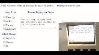 Sending Text Messages to ShoreTel Phones