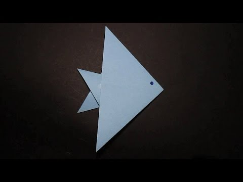Learn how to make origami easily: The Angel fish - YouTube   360x480
