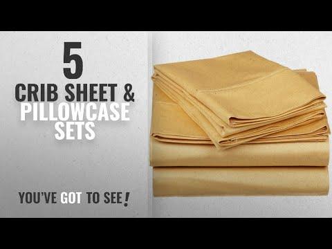Top 10 Crib Sheet & Pillowcase Sets [2018]: JB Linen 500 Thread Count 100% Pure Egyptian Cotton