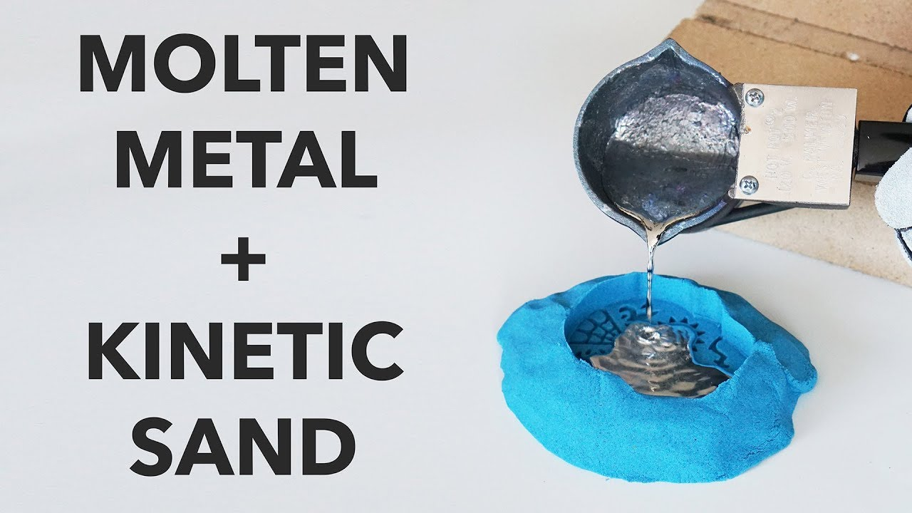 248f573cf2 Pouring Molten Metal into Kinetic Sand - YouTube