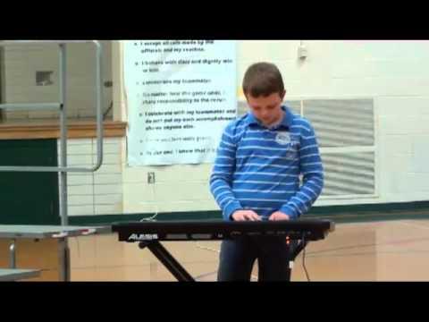 Jacob Folk Northridge Intermediate 4th Grade Talent Show  - Axle F