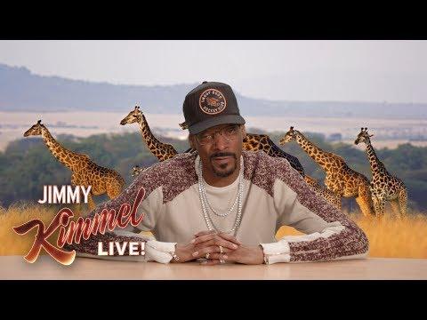Snoop Dogg Narrates Bat Vs. Scorpion On Jimmy Kimmel Live