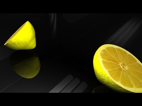 Maya tutorial : Model a lemon and cut it in half
