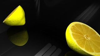 Maya tutorial : Model a lemon and cut it in half