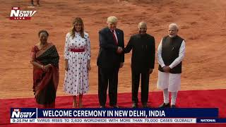 RED CARPET FOR TRUMP: India gives HUGE welcome ceremony for Trump