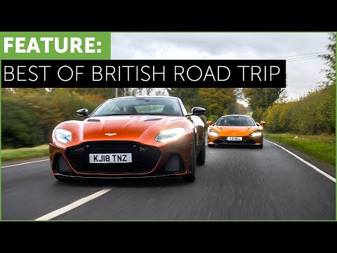 New Aston Martin DBS Superleggera vs Mclaren 720S – Best of British Road Trip