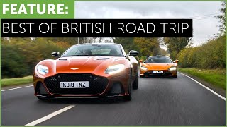 New Aston Martin DBS Superleggera vs Mclaren 720S - Best of British Road Trip