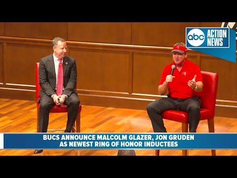Buccaneers announce Malcolm Glazer, Jon Gruden as this year