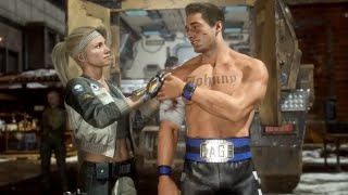 Mortal Kombat 11 Johnny Cage Sonya From Past Fall In