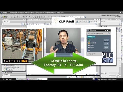 COMUNICAÇÃO entre Simuladores PLCSim e Factory I/O